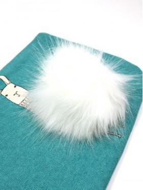 Pompón de pelo imitación piel para gorros y accesorios