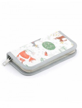 Small case for crochet hooks or circular needles Forest
