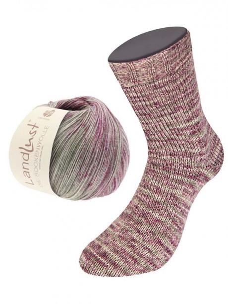 Landlust Sock 305 Purple pink