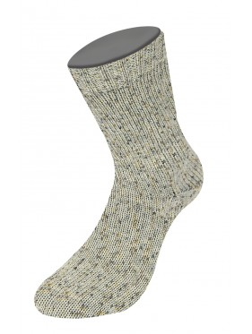 Lana Grossa Rústico Sock Yarn - Light Grey with dark mots 3812