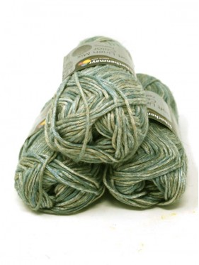Soft Linen Mix Color - Green beige 85