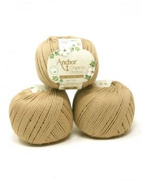 Anchor Organic Cotton - Pebble Stone 107 camel