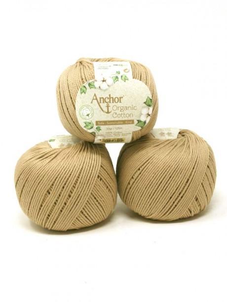 Anchor Organic Cotton - Pebble Stone 107