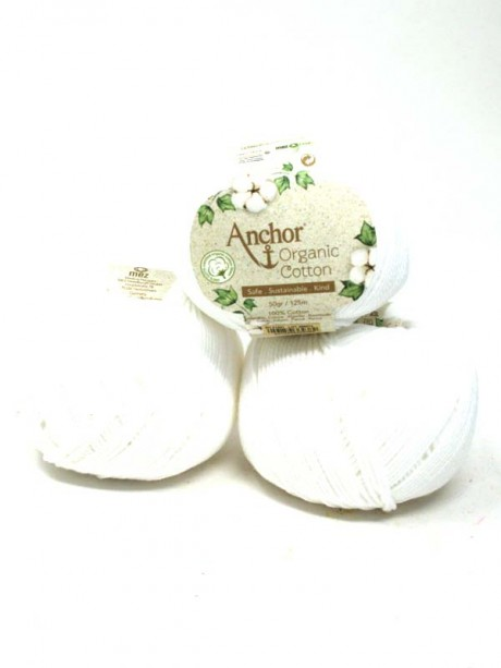 Anchor Organic Cotton - Snowy white 1331
