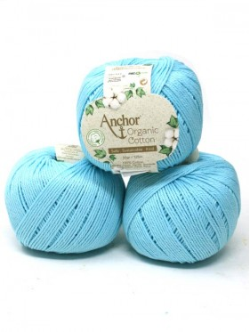 Anchor Organic Cotton - Turquoise Waters 00129