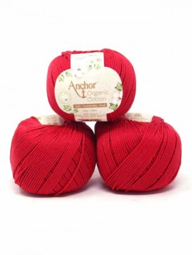 Anchor Organic Cotton - Terracotta 1025 rojo