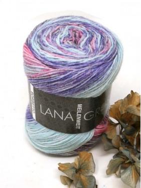 Lana Grossa Sorbetto - 6255 Blue violet / pink / rose / ice blue / plum blue