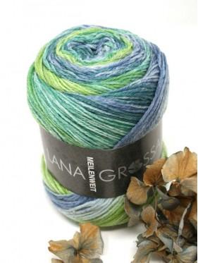 Lana Grossa Sorbetto - 6253 Jeans / light gray / pistachio / jade / petrol / apple green
