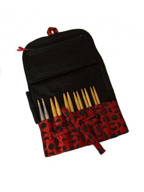 "Hiya Hiya - Bamboo Premium I/C Set 4"" (10cms) ó 5"" (12cms) - KIT LARGE - Circular needles interchangeable Bamboo set"