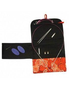 """Hiya Hiya - Bamboo Premium I/C Set 4"""" (10cms) ó 5"""" (12cms) - KIT SMALL - Agujas Circulares Bamboo intercambiables"""