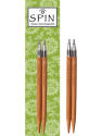 "Chiaogoo - Spin Interchangeable Bamboo Tips 4"" (10cms) or 5""(12cms)"