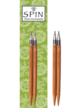 """Chiaogoo - Spin Interchangeable **Bamboo** Tips 4"""" (10cms) or 5""""(12cms)"""