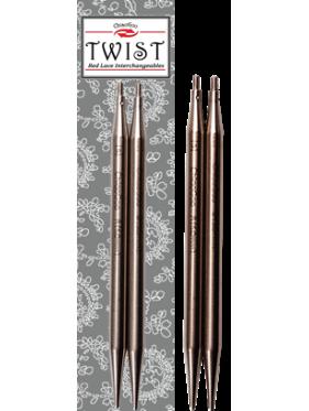 """Chiaogoo - Aiguilles Twist Lace 4"""" (10cms) ó 5"""" (12cms) ou 3"""" (8 cms) Interchangeables Metal"""