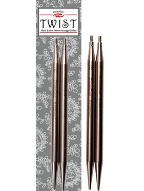 "Chiaogoo - Twist Lace Interchangeable Metal Tips 4"" (10cms) or 5""(12cms) or 3"" (8 cms)"