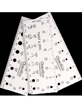 Chiaogoo - Jauge modèle rectangulaire 13 cms