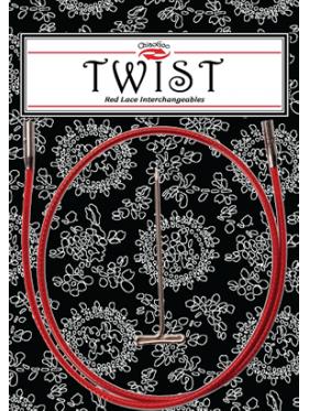 Chiaogoo - Twist Cable rojo Agujas Circulares
