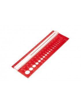 Knit Pro - Medidor de agujas y muestra de punto
