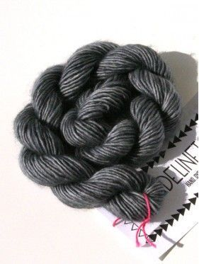 Unicorn Tails Mini Skein - Charcoal 195