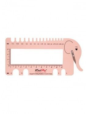 Knit Pro - Needle View and Gauge sizer Elephant