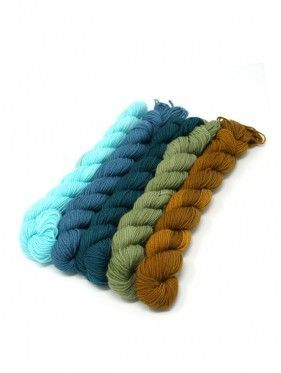 Lorna's Laces String Quintet Packs 5 mini skeins - Bazantar