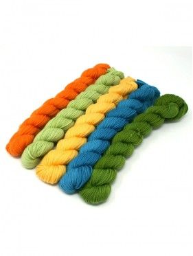 Lorna's Laces String Quintet Packs 5 mini skeins - Piano