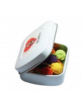 Hiya Hiya -  Notion Tin with Yarn Ball Stitch Markers