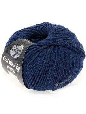 Cool Wool Big Uni Melange - Dark Blue 655