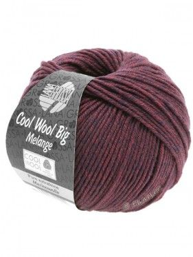Cool Wool Big Uni Melange - Dark Blue Berry 337