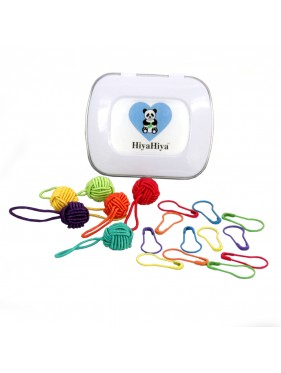 Hiya Hiya - Notion Tin with Yarn Ball Stitch Markers and Knitter's Safety Pins