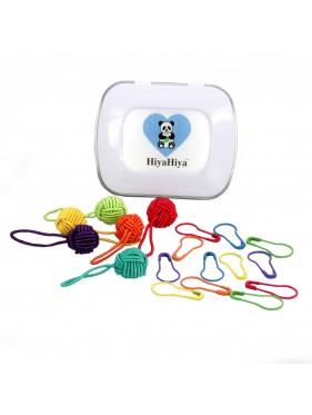 Hiya Hiya -  Notion Tin with Yarn Ball Stitch Markers and Knitter's Safety Pins