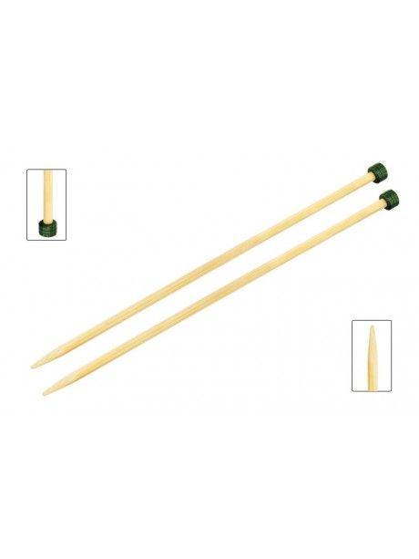 Knit Pro - BAMBOO- Agujas rectas de madera de 33 cm