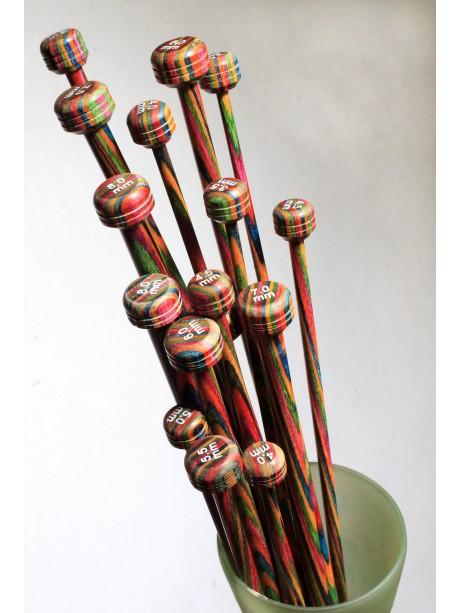 Knit Pro - SYMFONIE - Agujas Rectas Madera 35 cms 3.25mm
